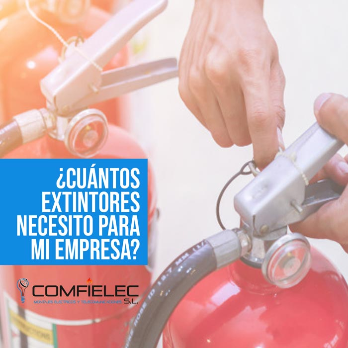 cuantos extintores necesito para mi empresa