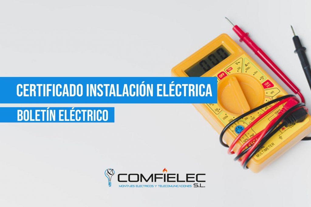 boletín eléctrico o certificado eléctrico